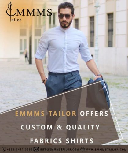 The Best Shirt Maker in Hong Kong: Get your bespoke style with EMMMS Custom Tailor.